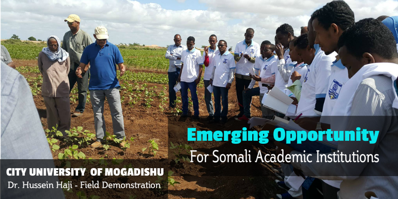 A New Era for Agricultural Research in Somalia and Emerging Opportunity for Somali Academic Institutions